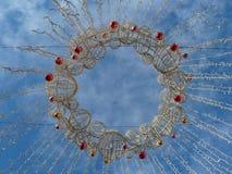 圣诞节街道装饰 免版税库存照片