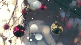 圣诞节街道装饰 影视素材