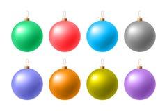 圣诞节表面无光泽的球 向量例证