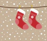 圣诞节袜子。 免版税库存图片