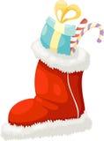 圣诞节袜子向量 免版税库存照片