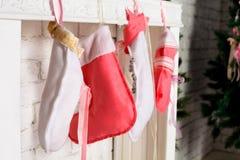圣诞节袜子 库存图片