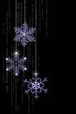 圣诞节被修宝石的雪花 库存照片