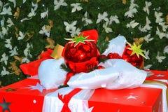 圣诞节被包装的礼物 免版税图库摄影