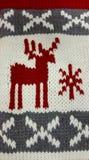 圣诞节被编织的背景 免版税库存图片
