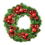 圣诞节被装载的花圈 图库摄影