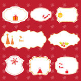 圣诞节被设置的设计框架 免版税库存图片