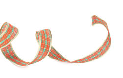 圣诞节被隔绝的装饰磁带 免版税库存图片