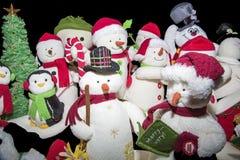 圣诞节被隔绝的雪人收藏 免版税库存图片