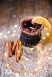 圣诞节被仔细考虑的酒 免版税图库摄影