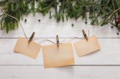 圣诞节装饰、装饰品和诗歌选构筑背景 库存照片