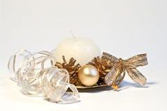 圣诞节装饰丝带 库存图片