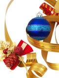 圣诞节装饰丝带 免版税图库摄影