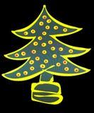 圣诞节装饰了例证结构树 免版税库存照片