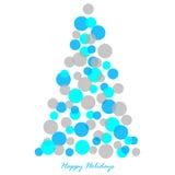 圣诞节装饰了例证结构树 库存图片