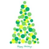 圣诞节装饰了例证结构树 库存照片