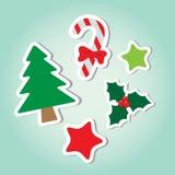 圣诞节装饰了元素 免版税库存图片
