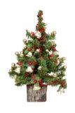 圣诞节装饰了微型结构树 免版税库存图片
