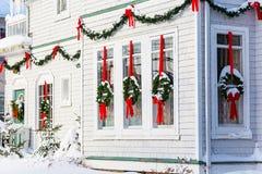 圣诞节装饰了房子 库存图片