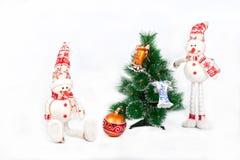 圣诞节装饰了玩具结构树 免版税库存图片
