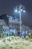 圣诞节装饰了街灯 免版税库存图片