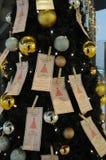 圣诞节装饰了装饰品结构树 免版税库存图片
