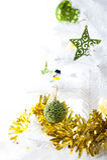 圣诞节装饰了详细资料结构树 免版税图库摄影