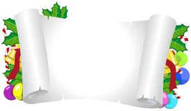 圣诞节装饰了水平的框架 免版税图库摄影