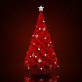 圣诞节装饰了结构树 库存照片