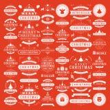 圣诞节装饰传染媒介设计元素 库存图片