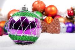 圣诞节装饰伪造品雪 库存图片