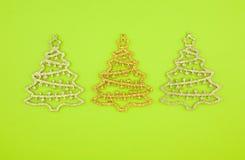圣诞节装饰冷杉三 免版税库存照片