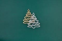 圣诞节装饰冷杉二 免版税库存图片