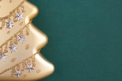 圣诞节装饰冷杉金零件 库存图片