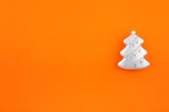 圣诞节装饰冷杉银 免版税库存图片