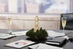圣诞节装饰办公室 图库摄影