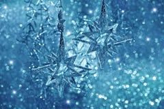 圣诞节装饰发光的星形 免版税图库摄影