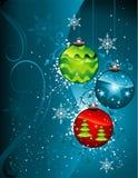圣诞节装饰向量 免版税库存照片
