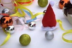 圣诞节装饰和新年魔术  免版税图库摄影