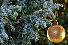 圣诞节装饰和树 免版税库存图片