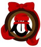 圣诞节装饰品企鹅 免版税库存图片
