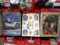 圣诞节装饰品商店 免版税图库摄影