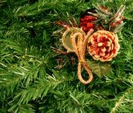 圣诞节装饰品杉木 库存图片