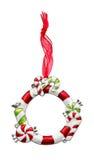 圣诞节装饰品框架 库存照片