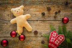 圣诞节装饰品的汇集,礼物,为孩子提出 免版税库存照片