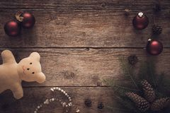 圣诞节装饰品的汇集,礼物,为孩子提出 图库摄影