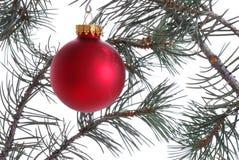 圣诞节装饰品红色结构树 库存图片