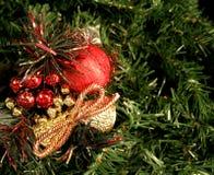圣诞节装饰品结构树 图库摄影