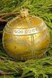 圣诞节装饰品结构树 免版税库存图片