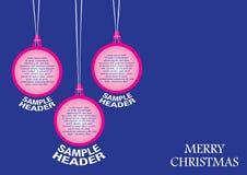 圣诞节装饰品背景模板设计 免版税库存图片